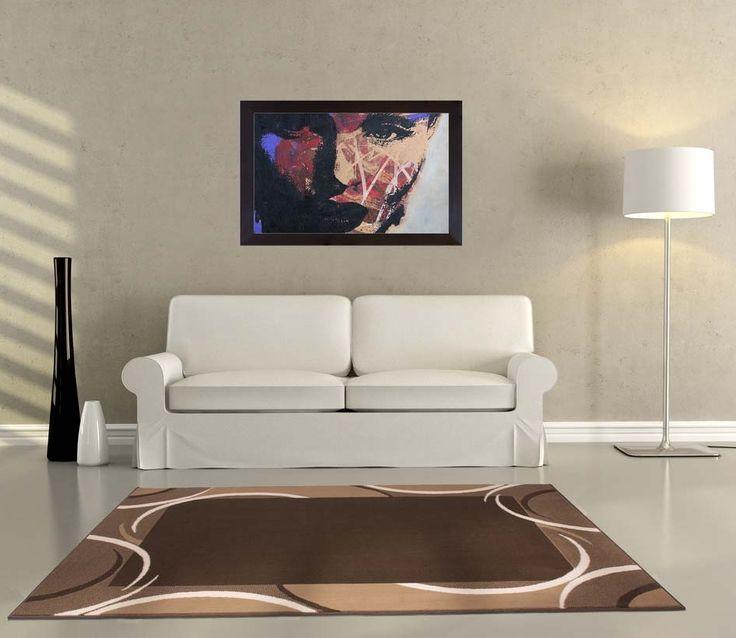 "Tapis moderne disponible en plusieurs tailles | Tapis Design / Moderne USA Boston ""Café"" - BRICOFLOR"