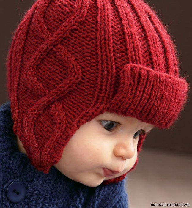 Шапочка с ушками для малыша (Вязание спицами)   Журнал Вдохновение Рукодельницы