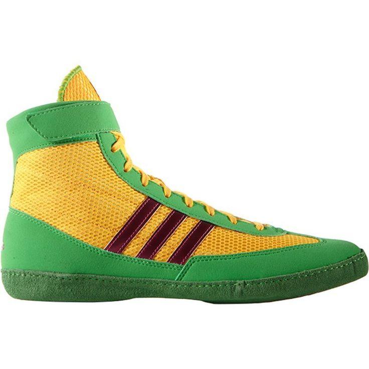 adidas Men's Combat Speed IV Wrestling Shoe, Size: 10.5, Green