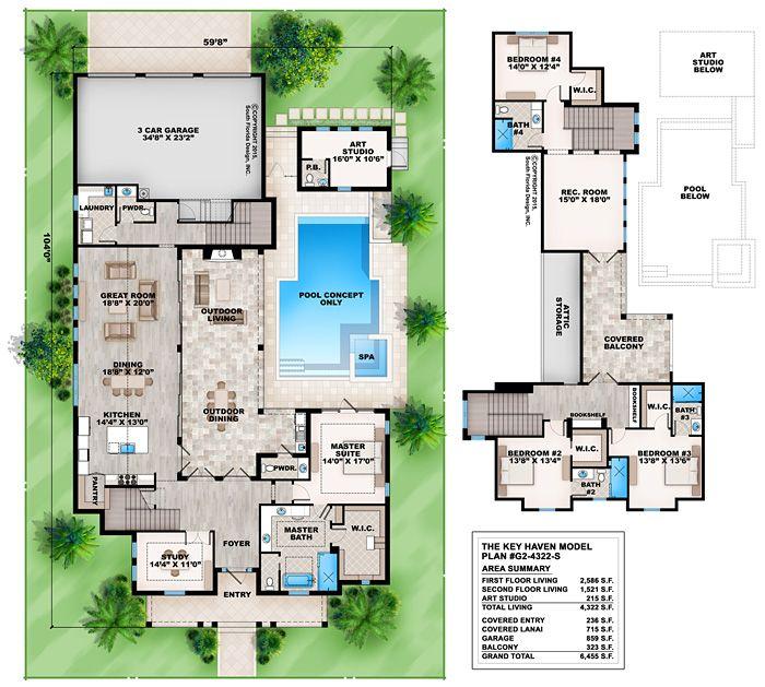 8 best coastal house plans images on pinterest | coastal house