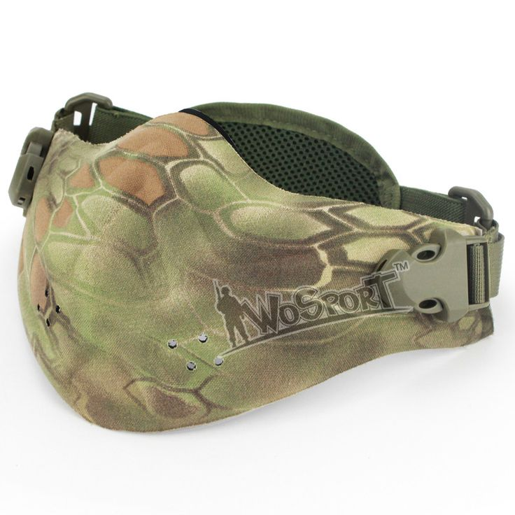 CS field protective Outdoor predator paintball mask equipment Half Face Camouflage protective mask scary airsoft B14