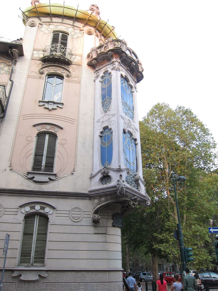 """mglmarchitects: """" Art Nouveau (Stile Floreale) window bay in Turin, Italy. """""""