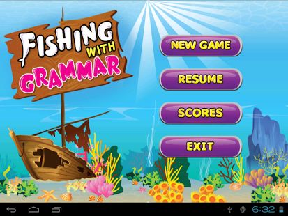 The starting screen of the application has four buttons: New Game, Resume #Game, Scores and Exit. A gentle touch on the New Game button opens the Levels page.