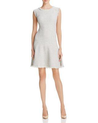 Rebecca Taylor Metallic Weave Tweed Dress   Bloomingdale's