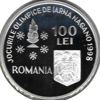 100 lei Nagano Olympic Winter Games 1998 - common obverse