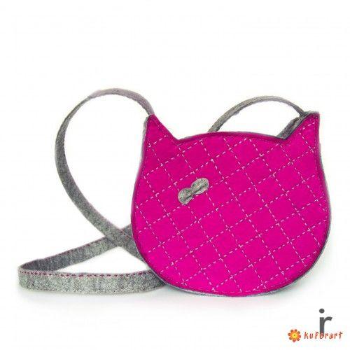 Torebka z Filcu w Kształcie Kota Kitty 1.1 - Mini torebki - Torby i torebki