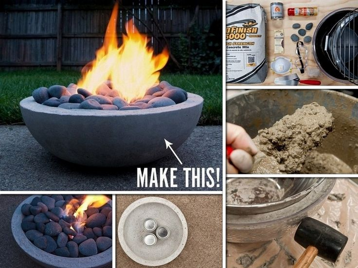 diy poured concrete fire pit on patio pits barkman kit