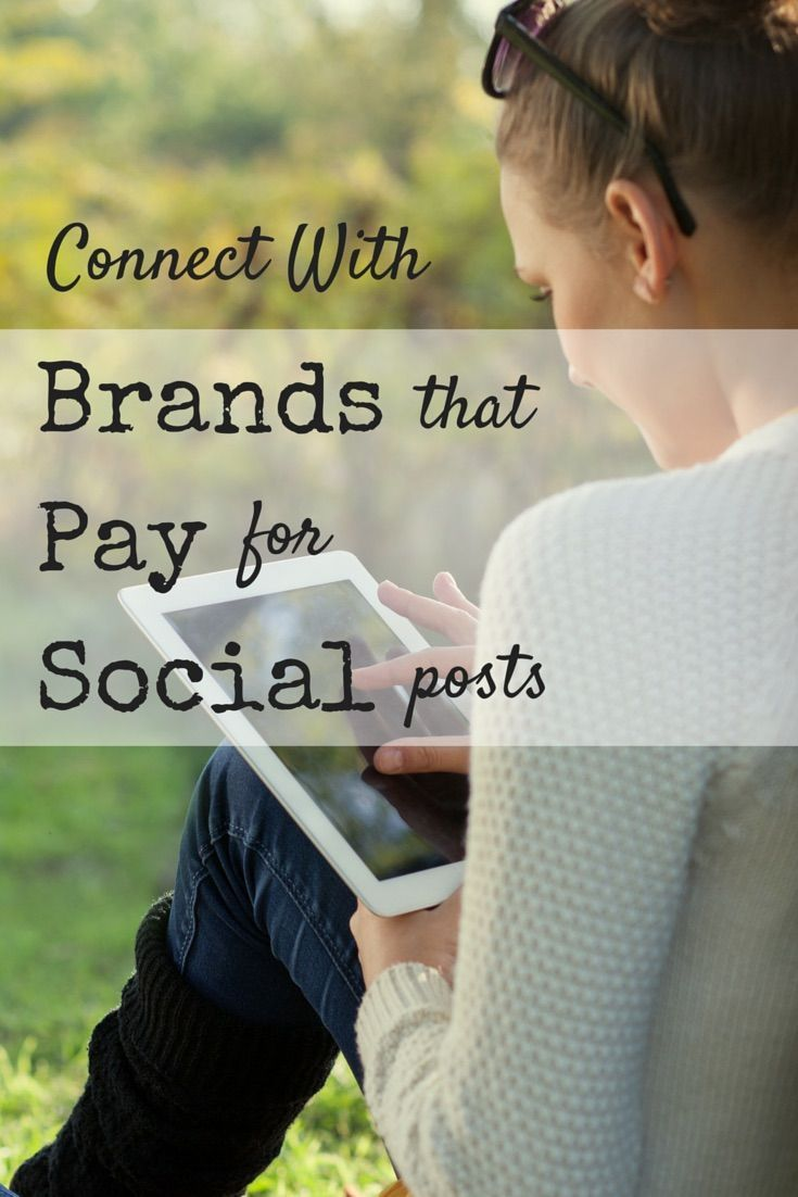 Use your social media accounts to make money TODAY. Big name brands will pay good money for you to talk about them.