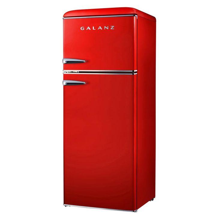 Galanz 76 cu ft mini retro fridge in redbcd215v62h