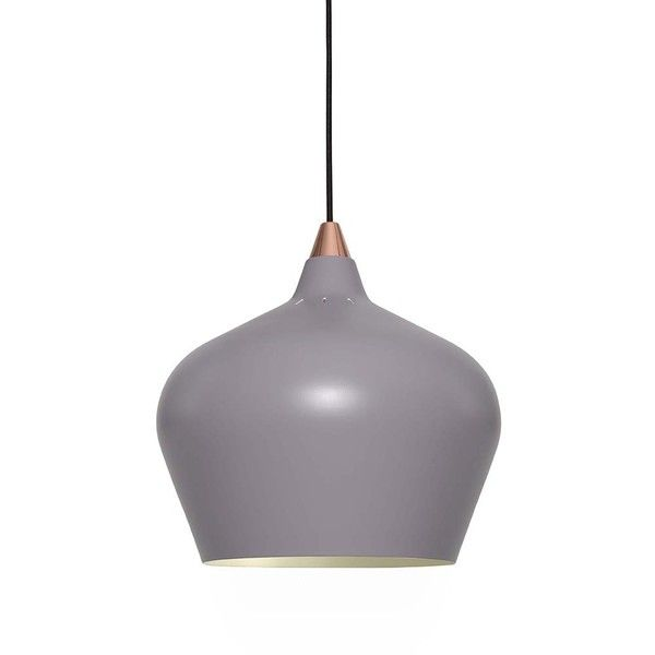 Heal's Cohen Pendant Light - Grey - Large (£195) ❤ liked on Polyvore featuring…