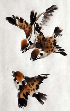 Bird - Lian Quan Zhen is a popular watercolor and Chinese painting artist