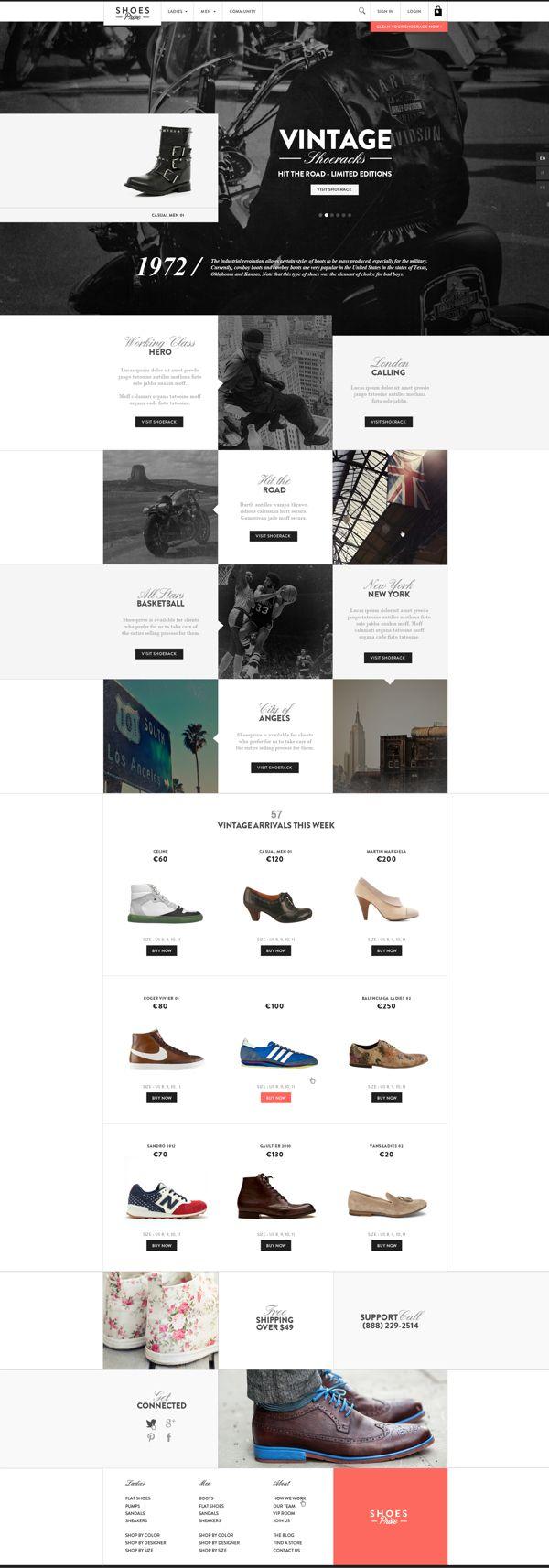 Web | Shoesprive Concept by Thomas Le Corre, via Behance