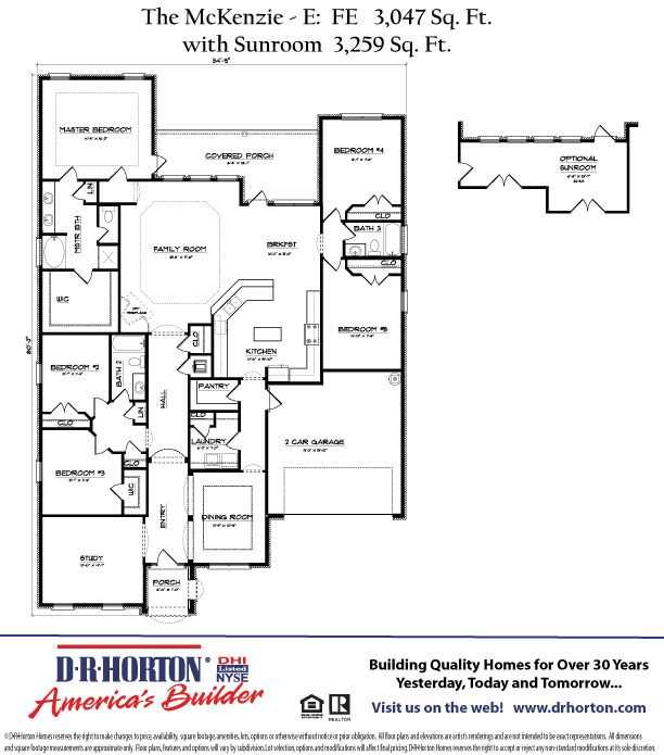 Dr horton mckenzie floor plan google search my next for Dr horton home share floor plans