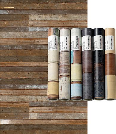 Reclaimed wood wallpaper - this is so cool looking in person! (but way $$)