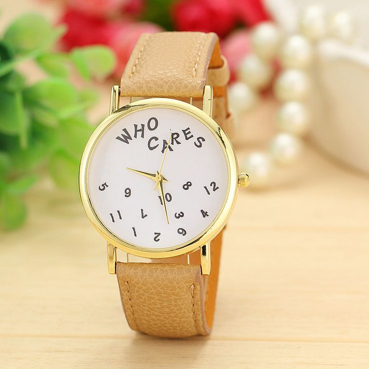 WHO CARES ladies casual dress watch - http://lily316.com.au/new-arrivals/