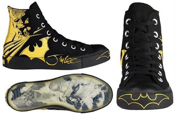Jim Lee Batman Converse sneakers.