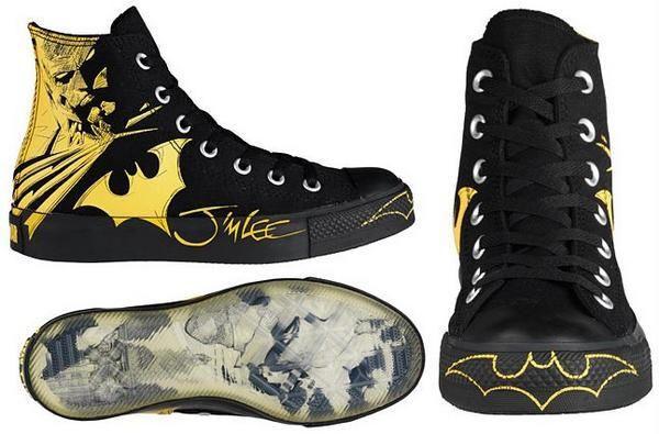 Jim Lee Batman Converse sneakers.