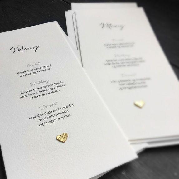 Menykort - bryllup