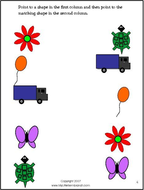 Your 2 and 3 year old will match shapes and learn about colors and numbers.
