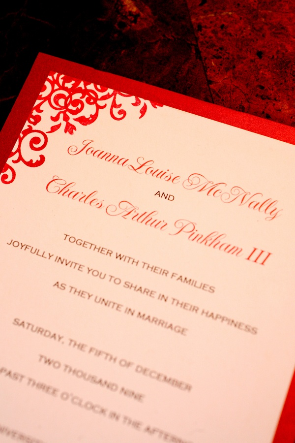 Red Invitations Wedding with adorable invitation example
