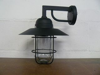 Cage Wall Bracket on Square Arm with Top Any Colour E27 Lampholder