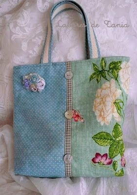 tote from 2 fabrics
