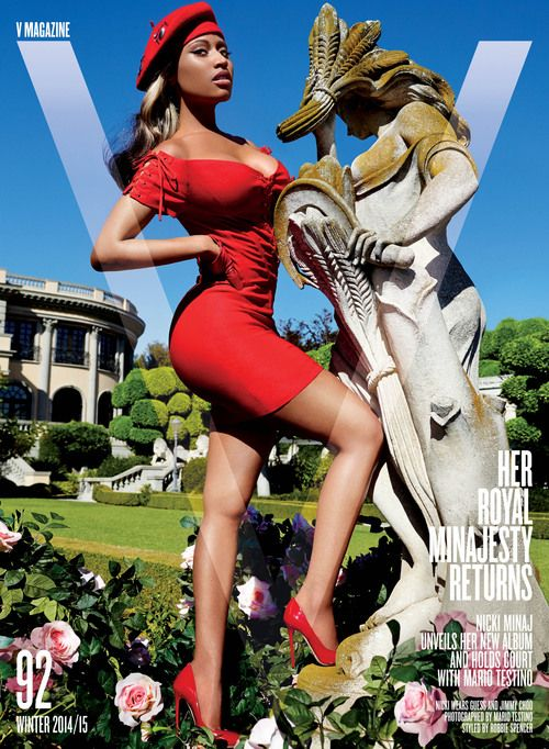 Nicki Minaj Covers V Magazine #92 Winter 2014/15 by Mario Testino