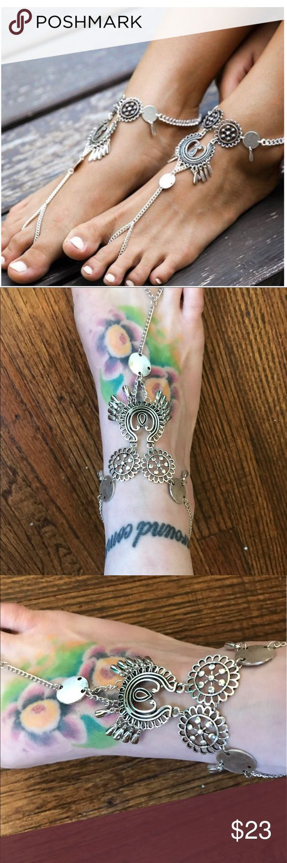 5 ⭐️ RATING A PAIR (2) DAINTY BOHO ANKLETS Get two anklets. These are fun anklets w a lot of character!  Silver tone. PRICE IS FIRM. NO OFFERS PLEASE.   SAME/NEXT DAY SHIPPING   SMOKE FREE   PET FRIENDLY  BOUTIQUE ITEMS MAY NOT HAVE TAGS  NO TRADES  NO MODELING  REALISTIC OFFERS WELCOME Jewelry Bracelets