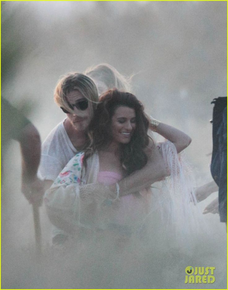 Lea Michele Gets Cozy with Co-Star on Her Music Video Set!   lea michele cozy co star music video set 06 - Photo
