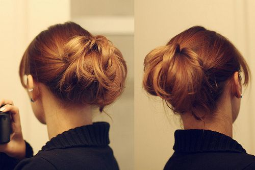 I always love a simple new way to do my hair that is cute!: Quick Hairstyles, Simple Hairstyles, Simple Updo Hairstyles, Simple Updo Tutorials, Messy Buns, Hair Style, Super Easy Hairstyles, Hair Tricks, Easy Updo