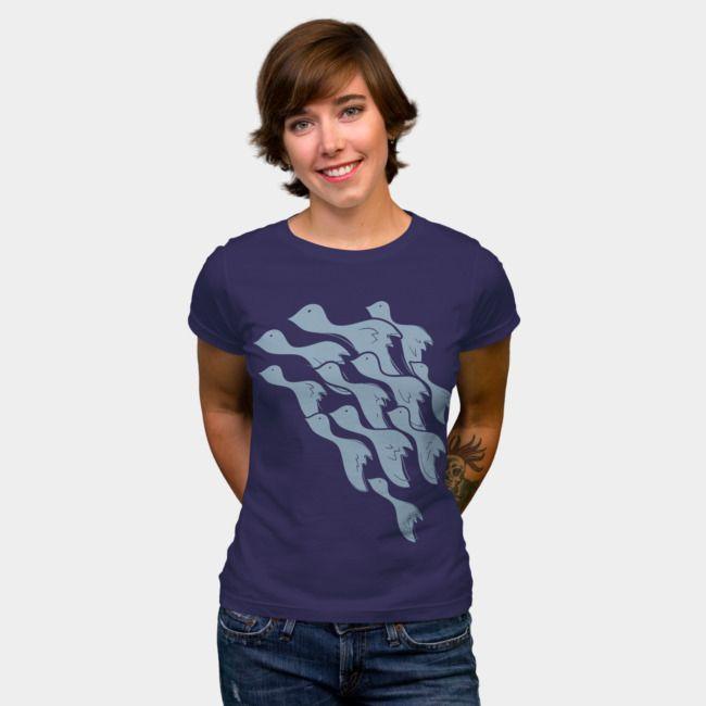 Flying birds. #designbyhumans #flying #birds #minimal #art #tshirt #tshirtdesign #apparel #womensfashion