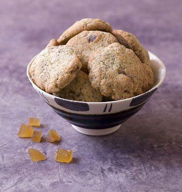Cookies au thé et au gingembre confit, sans gluten - les meilleures recettes de cuisine d'Ôdélices