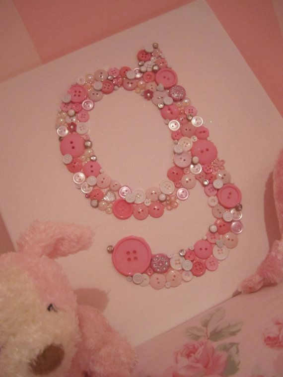My Baby Love.....Little Girls room...Shabby Chic Pink Initial on 12 x 12 canvas via Etsy
