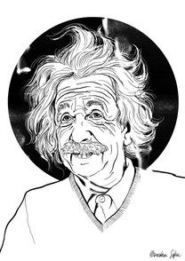 «Альберт Эйнштейн».Софья Мироедова  #helloposter #poster #posters #art #modernart #printart #illustrators #illustration