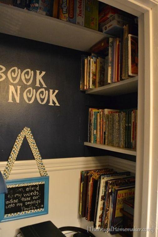 Book Nook in closet