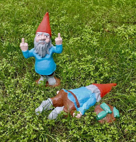 Large Zombie Gnomes David the Double Damned