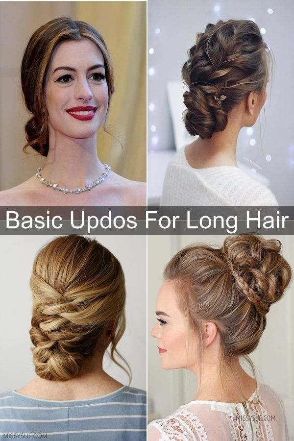 Easy Updos For Long Hair Hair Up Do Quick Easy Upstyles In 2020 Long Hair Styles Cute Hairstyles Updos Easy Updos For Long Hair