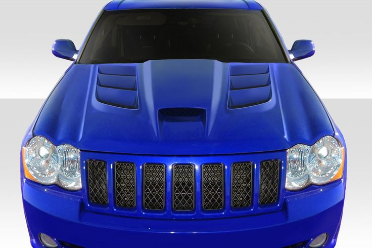 2005-2010 Jeep Grand Cherokee Duraflex Viper Look Hood - 1 Piece