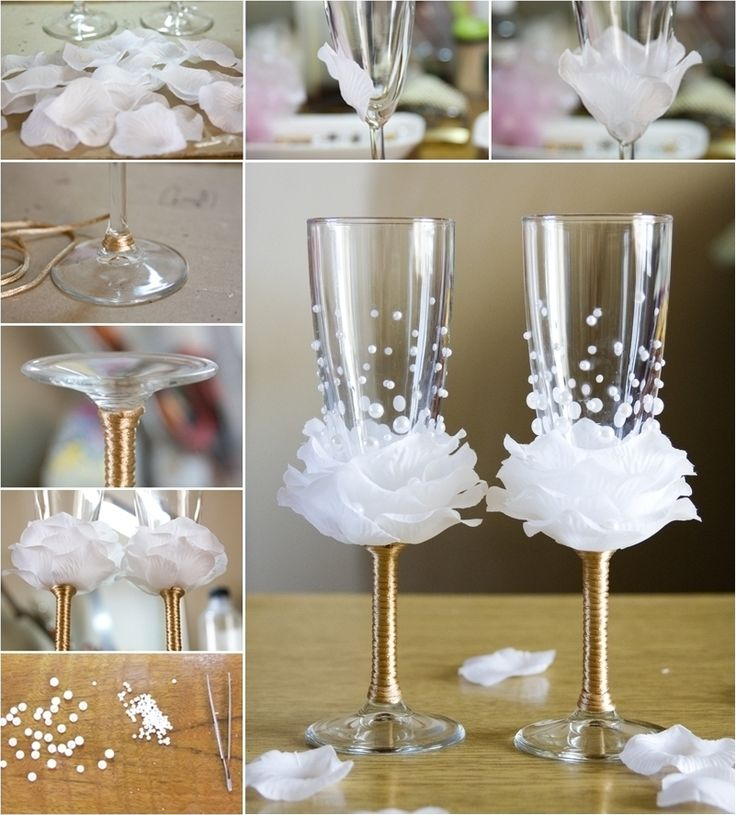 Amazing Rose Wine Glass Decor Idea For Weddings Http