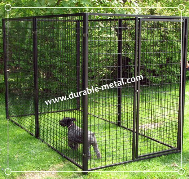 10 X10 X6 Backyard Outdoor Dog Kennel Dog Runs Durable Metal Products Co Ltd 10 X10 X6 Backyard Outdoor In 2020 Dog Kennel Outdoor Metal Dog Kennel Dog Kennel