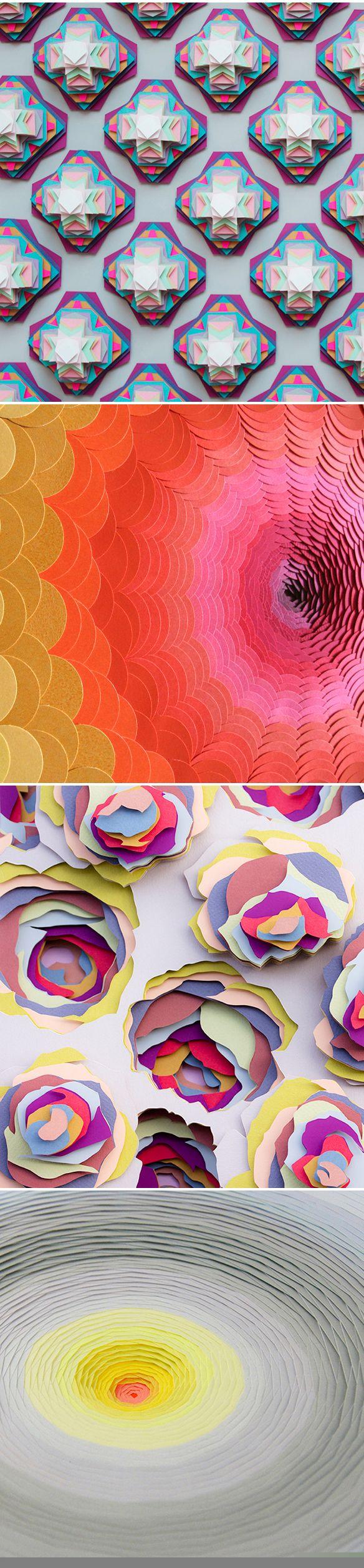 〉〉paper sculptures by Maud Vantours