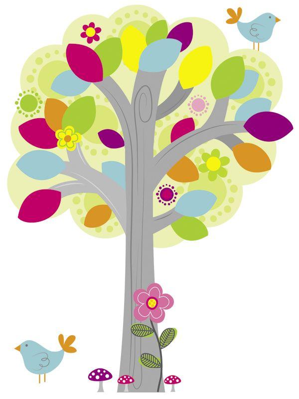 """Наклейка на стену """"Сказочное дерево"""""""