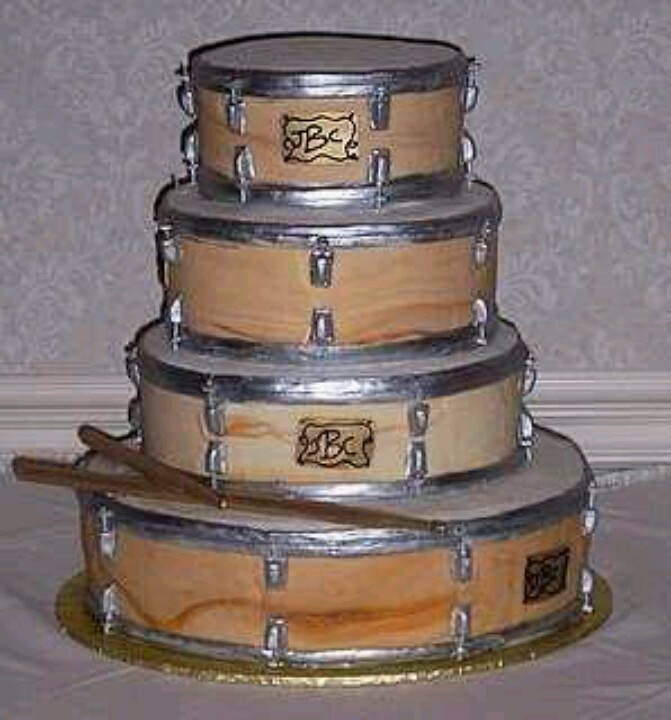 Drums Birthday Cake Images