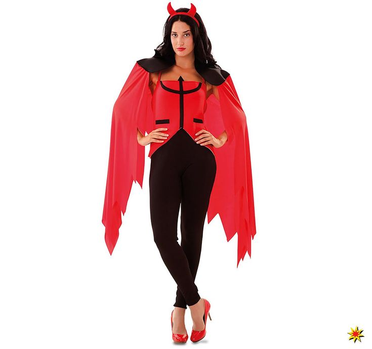 Damen Kostum Teufelin Dreizack Halloween Kostume Und