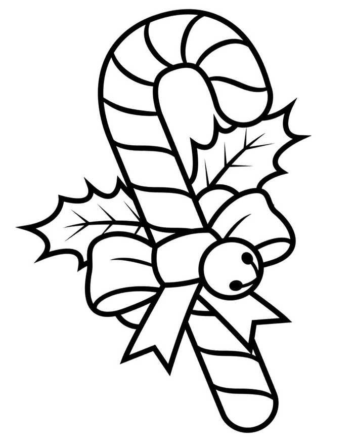 Candy Cane Coloring Pages Printable Candy Cane Coloring Page