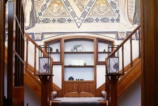 'Spel van het leven' (1901-1902), Wallpainting staircase/hall villa De Zeemeeuw, Scheveningen, The Netherlands by Thorn Prikker and Johan Altorf