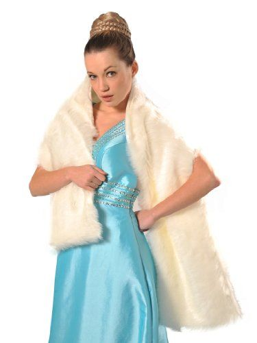 Artwedding Faux Fur Wedding Bridal Wrap/Bridal Shrug/Shawl,Ivory List Price:	$15.95 Price:	$10.95