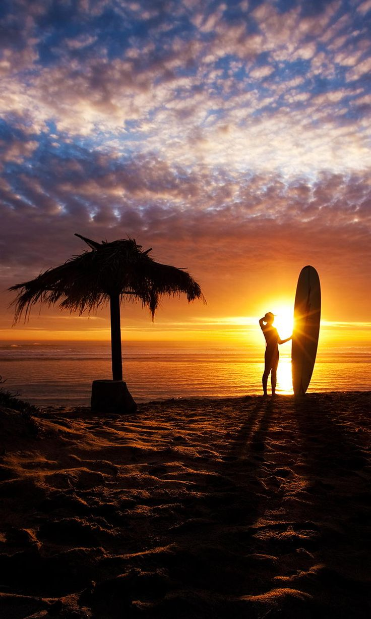 A Beautiful Sunset and surfing in Hawaii. Yep happening some day...
