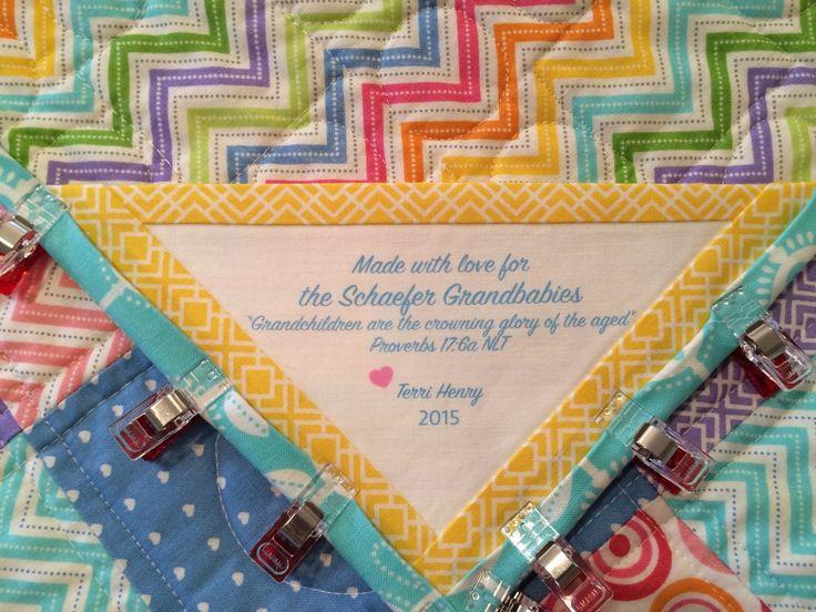 Schaefer Grandmother's Quilt Quilt label. I love sewing