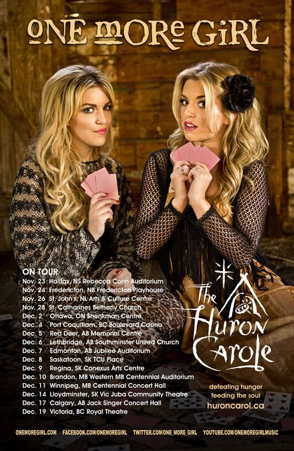The poster from the 2013 Huron Carole Tour (featuring One More Girl)